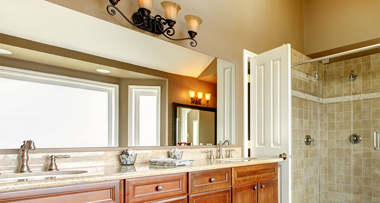 Bathroom Mirror Installation bathroom mirrors | dulles glass